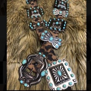 Leopard Concho Belt